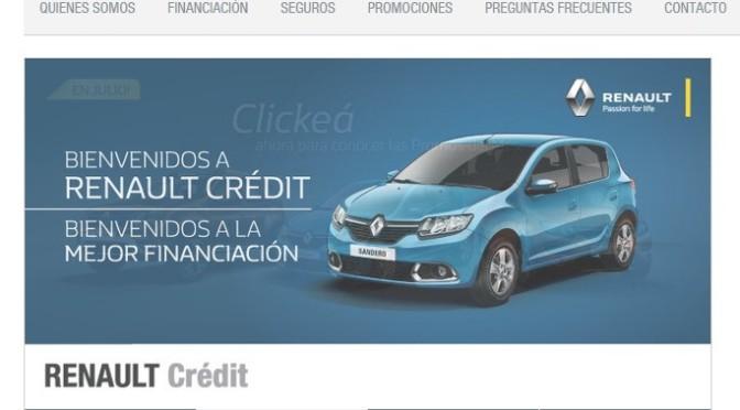 Mas Beneficios en Espacio Cliente de Renault Crédit