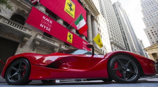 Ferrari | subió el valor de sus acciones en Wall Street