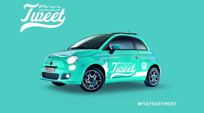Fiat | 500Tweet el primer auto que anda a tweets