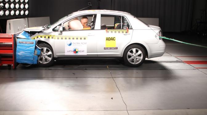Latin NCAP | Nissan Tiida Sedán mejora su puntuación