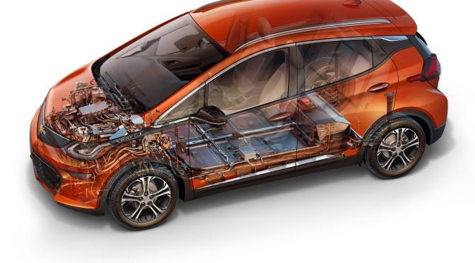 Chevrolet | aquí la unidad de propulsión y batería del Bolt EV