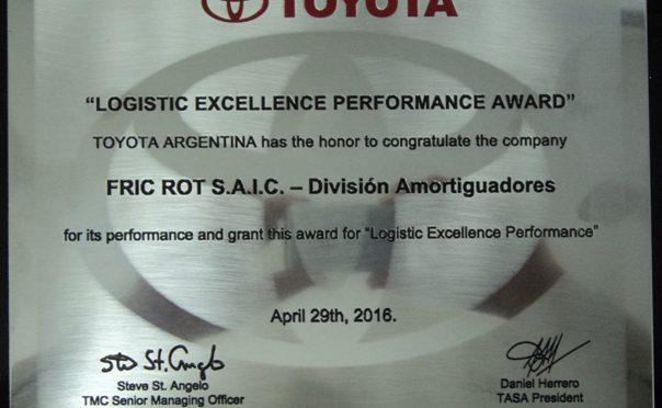 Fric-Rot | recibe premio de parte de Toyota