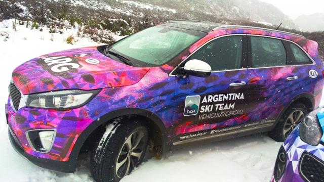 Sorento/Sportage | Kia | sponsor oficial del equipo argentino de Ski y Snowboard