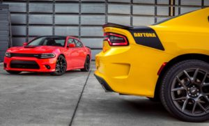 2017 Dodge Charger Daytona 392 (left) and 2017 Dodge Charger Daytona (right)
