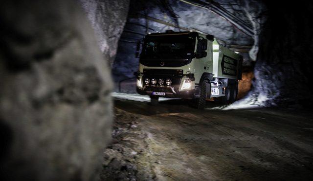 FMX autónomo | Volvo | a prueba en la mina Boliden