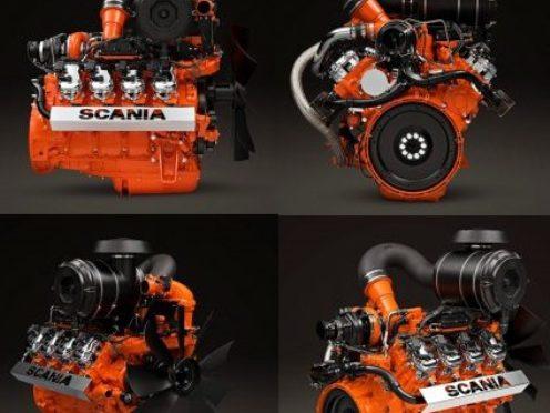 Motor V8 a gas | Scania | para generación de energía