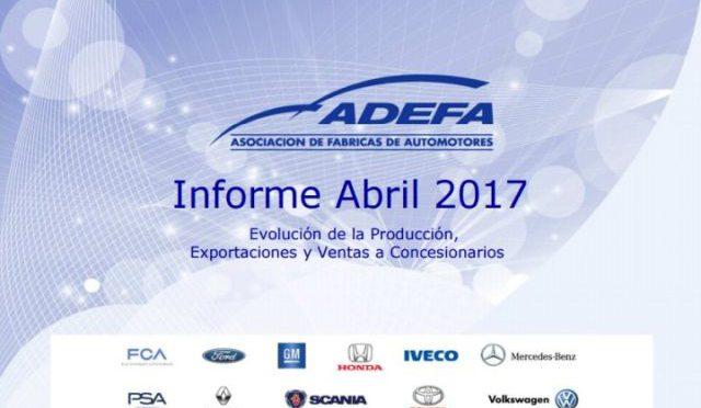 Producción Automotriz   ADEFA   Abril 2017