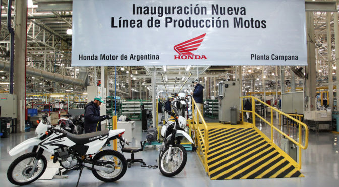 Honda | estrena nueva línea de producción en Argentina