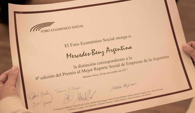 Mercedes-Benz | premiada con el Mejor Reporte Social de Empresas