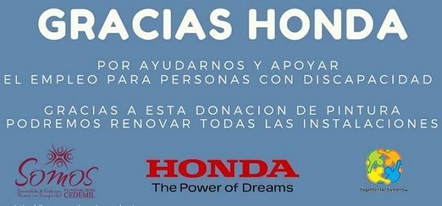Honda | Argentina | donación en pos de la inclusión